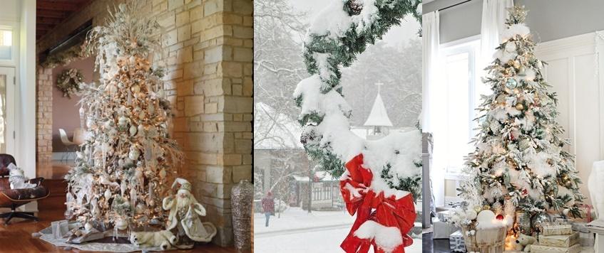 Foto Con La Neve Di Natale.Albero Di Natale Effetto Ghiacciato Come Creare La Neve Finta Sui Rami Foto