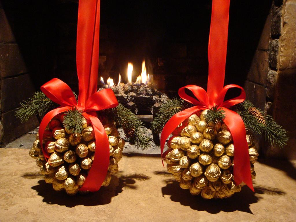 Creare Composizioni Per Natale decorazioni natalizie con materiali naturali (foto)