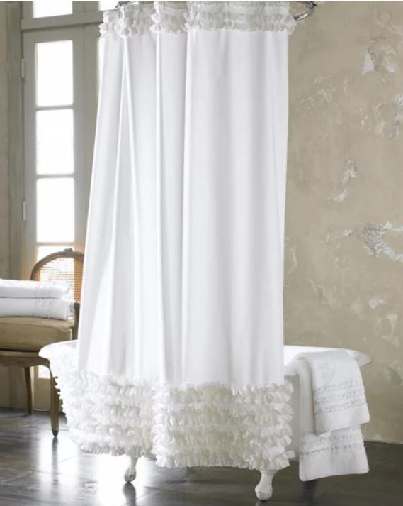 tenda vasca bianca increspata