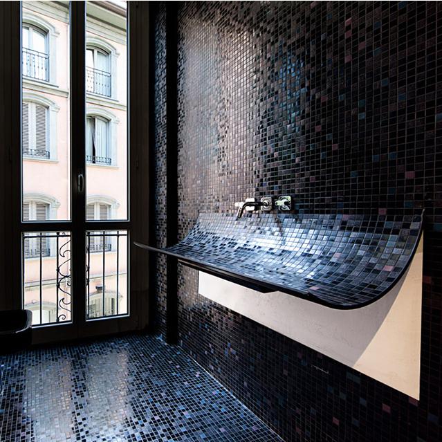Bagni Moderni Con Mosaico.Il Bagno Moderno Con Il Mosaico Potrebbe Essere Un Ottima