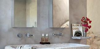 Bagno pietra naturale: lavandino