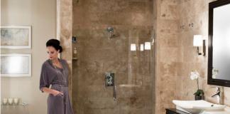 Bagno travertino: parete