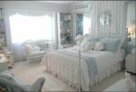 Camere letto provenzale: bianco e azzurro