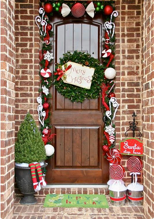 Tutto Per Il Natale.Come Addobbare Le Porte Per Natale In Stile Shabby