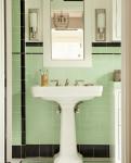 come arredare una casa vintage bagno verde