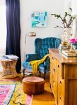 come arredare una casa vintage poltrona