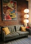 come arredare una casa vintage salone parete