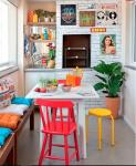 come arredare una casa vintage zona living