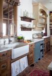 come arredare una cucina country lavello