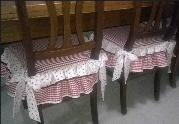 Cucire Cuscini.Come Cucire I Cuscini Delle Sedie In Stile Country Chic