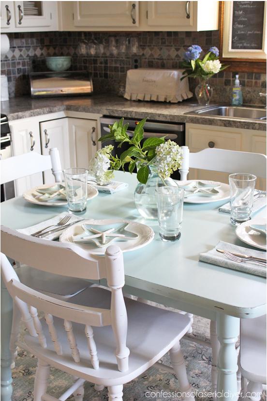 Tavolo Della Cucina.Come Dipingere Un Vecchio Tavolo Della Cucina E Le Sedie In