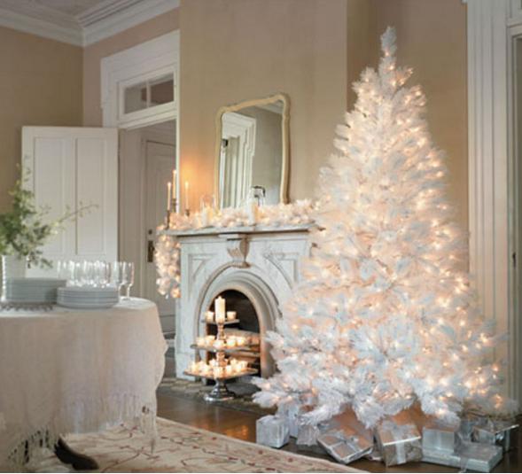 Albero Di Natale Bianco.Come Decorare L Albero Di Natale Bianco In Stile Shabby