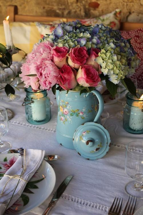 Decorazioni Floreali Shabby Chic Per La Casa Foto