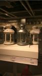 Lanterna Ikea: bianca e argento