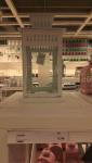 Lanterna Ikea: bianca rettangolare