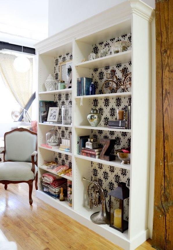 Come restaurare la libreria billy dell 39 ikea dandole un for Ikea carta da parati