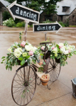 Matrimonio sahhby chic idee: bici