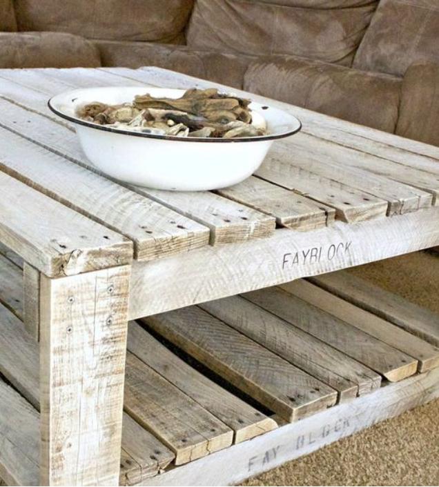 Realizza i mobili con i bancali di legno per la tua casa shabby