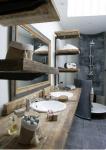 Mobili legno grezzo: bagno