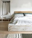 Mobili legno grezzo: camera da letto