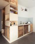 Mobili legno grezzo: cucina