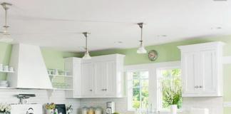 Pareti verdi cucina: acqua
