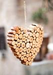 Tappi di sughero decorati cuore