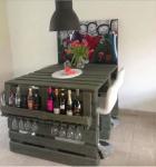Tavolo bancali: mobile bar