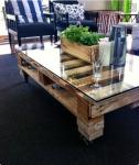Tavolo bancali: in vetro