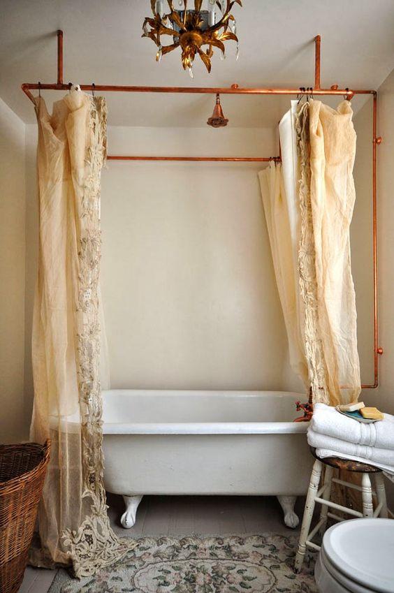 Idee Per Tende Da Bagno.12 Incredibili Idee Per Trasformare La Tua Vasca Da Bagno