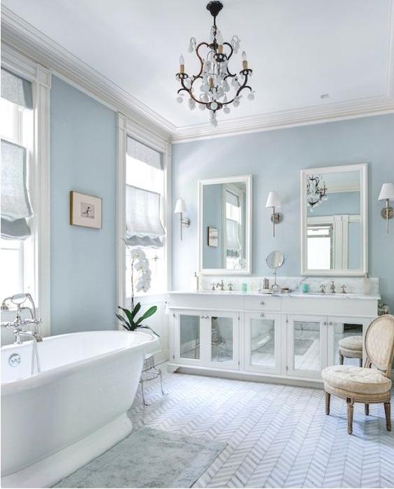 Le tende da bagno shabby chic per un ambiente unico e avvolgente