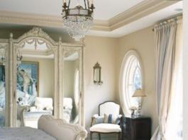 Tende camere da letto provenzale bicolore