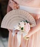 Ventaglio matrimonio fai da te: fiori